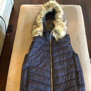 Gap Faux Fur Hooded Puffer Vest
